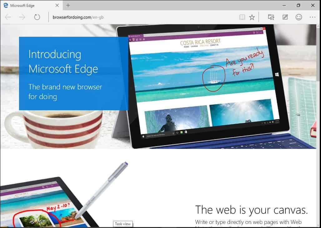 Windows 10 Microsoft Edge IE
