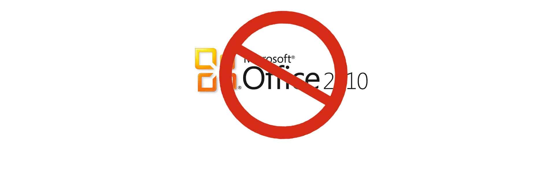 Microsoft Office 2010 Support To End