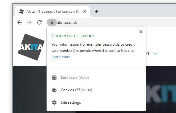 https connection is secure